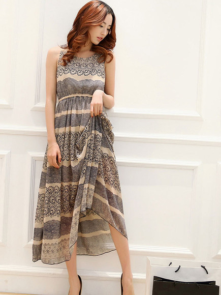 dress chiffon maxi dress spring fashion summer fashion