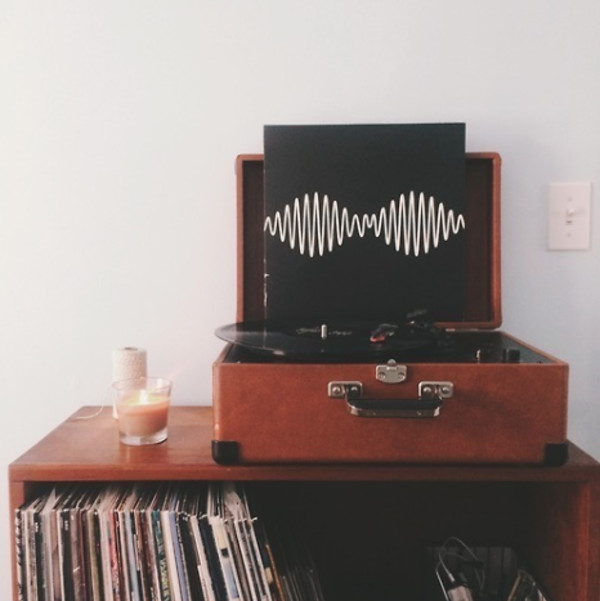 music arctic monkeys record player home decor candle hipster