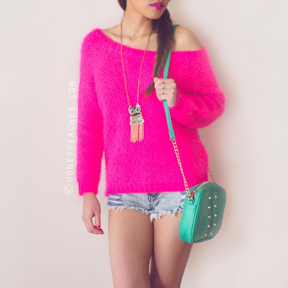Lovestruck Hot Pink Sweater – Honey Peaches