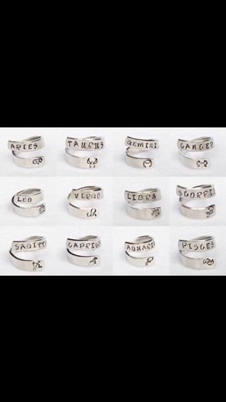 jewels zodiac ring jewelry cute pretty