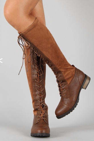 shoes fall colors suede boots suede brown leather boots brown boots autumn/winter autumn shoes fall boots leather boots corset front boots with laces tall boots cosplay fall trend fall outfits knee high boots lace up boots