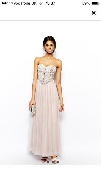 dress nute prom dress maxi chiffon rhinestones