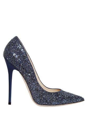glitter pumps navy shoes