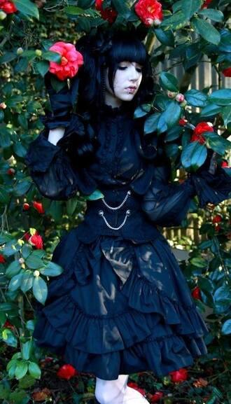 dress goth gothic lolita gothic dress black black dress victorian