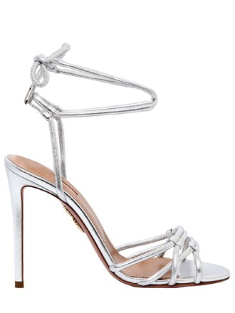 sandals leather sandals leather silver shoes