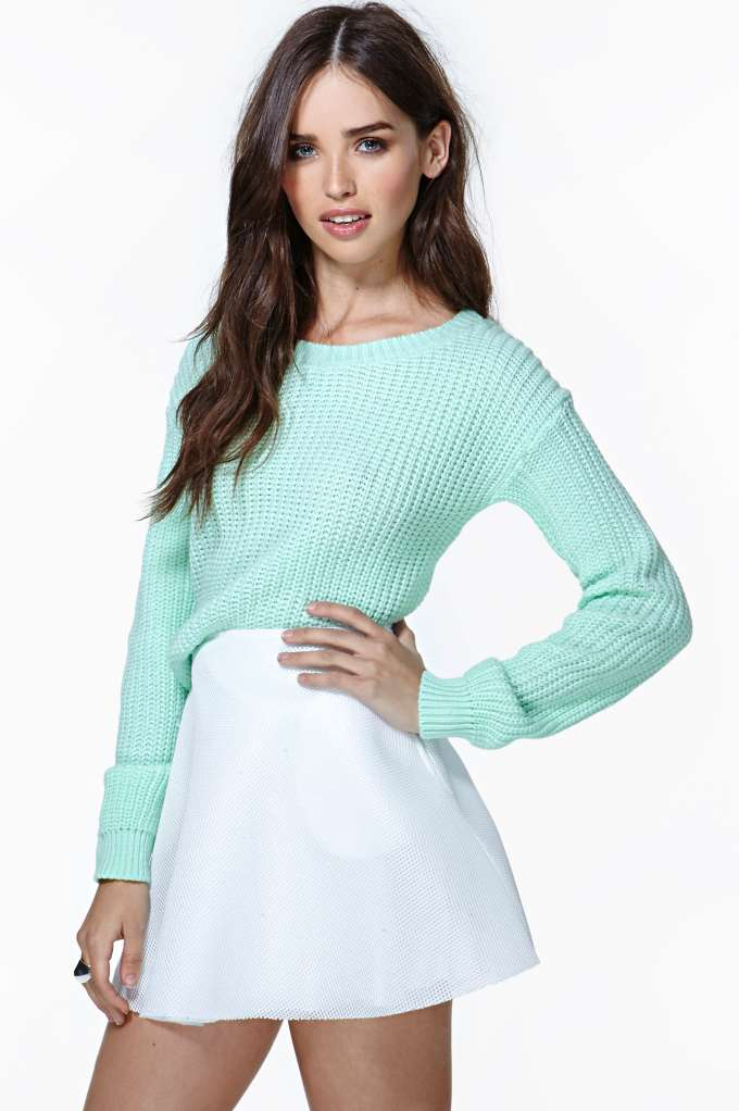 Lexington Sweater - Mint at Nasty Gal