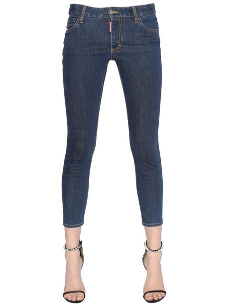 Dsquared2 jeans denim cropped blue