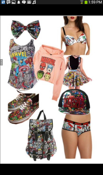 swimwear marvel superheroes marvel sebby the avengers superheroes nerd underwear bag hair accessory