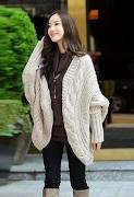Cheap Women Cardigan Sweater Fashion Cable Knit Long Sleeves Open Fron