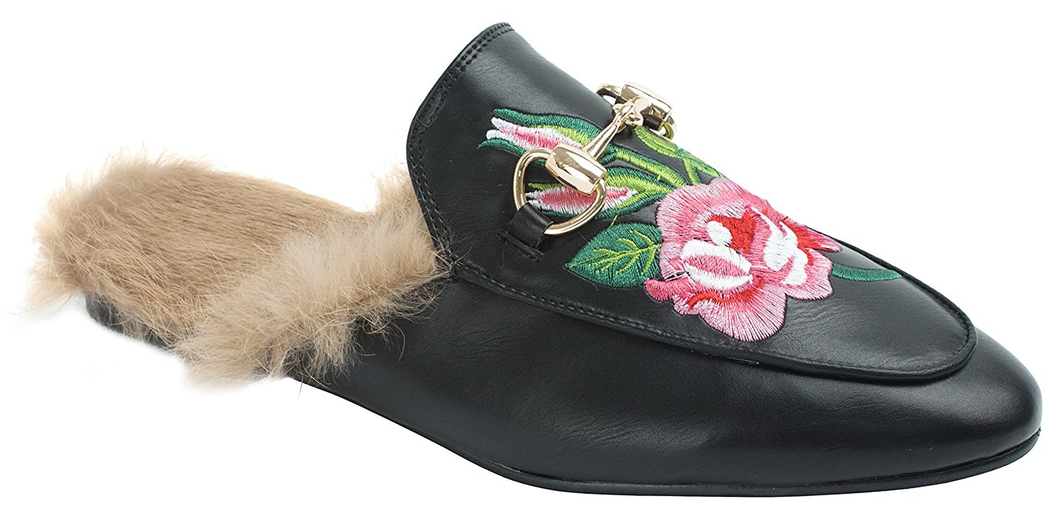 9b41f16969 Amazon.com | AnnaKastle Womens Fur-Lined Backless Loafers Slip-ons Slippers  | Loafers & Slip-Ons