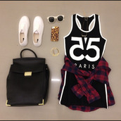 sunglasses,bag,shoes,flannel,jewelry,bracelets,necklace,black jersey dress,white shoes,black backpack,plaid jacket,iphone 5 case,little black dress,black and white dress,paris,bodycon dress,jewels,sportswear,dress,black,plaid,casual,cool girl style,fashion,style,clothes,number tee,black and white,t-shirt,tee dress,tank top,blouse,55,travel,phone cover,gold,plaid blouse,vans,summer outfits,fall outfits,plaid shirt,plaid cropped top,crop tops,country,shorts,jeresy dress,number shirt,90s style,black dress,mini dress,tight,jersey