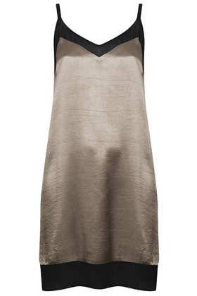 V Front Chiffon Insert Dress - Dresses & Playsuits - Sale  - Sale & Offers - Topshop