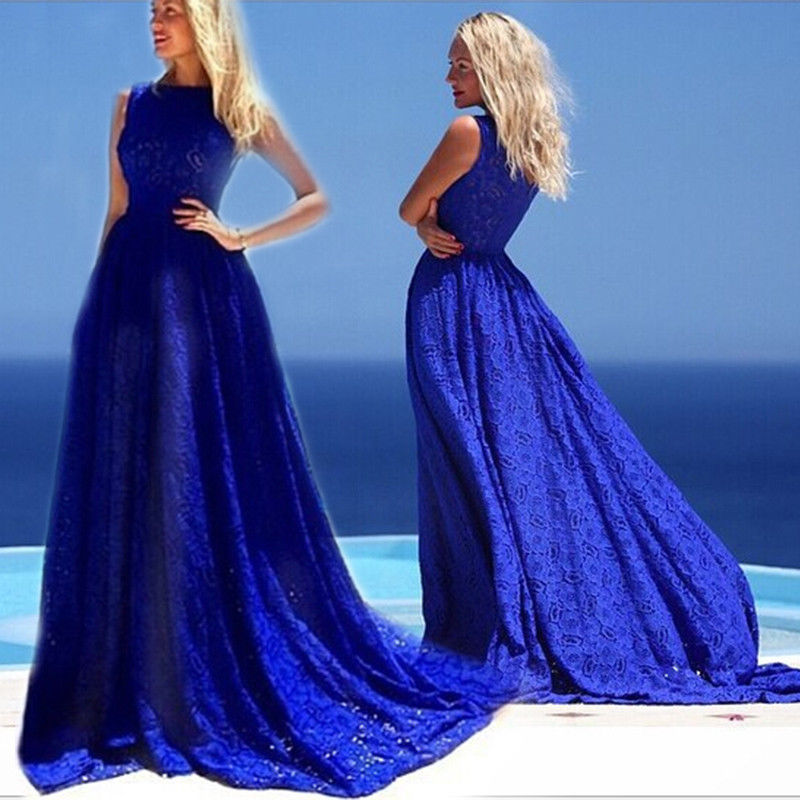 Royal blue maternity formal evening maxi dress wedding for Maxi maternity dresses for weddings