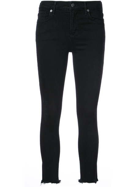 AGOLDE jeans cropped jeans cropped women spandex cotton black