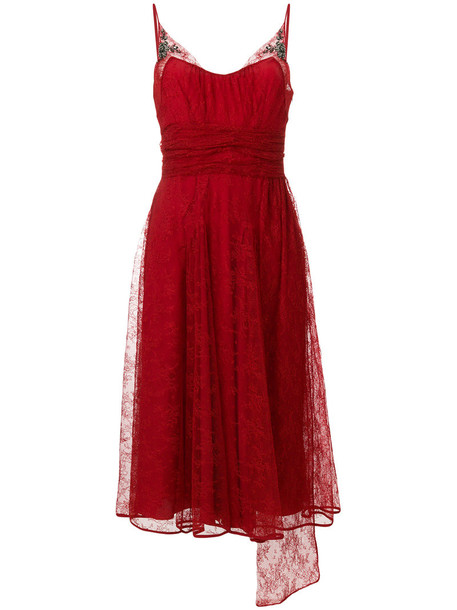 dress embroidered dress chiffon embroidered women silk red