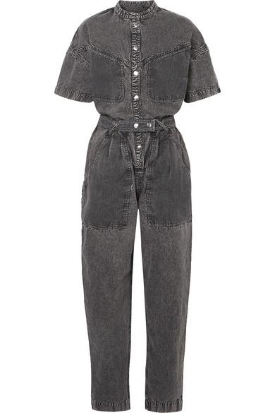 Isabel Marant - Tundra mesh-paneled denim jumpsuit