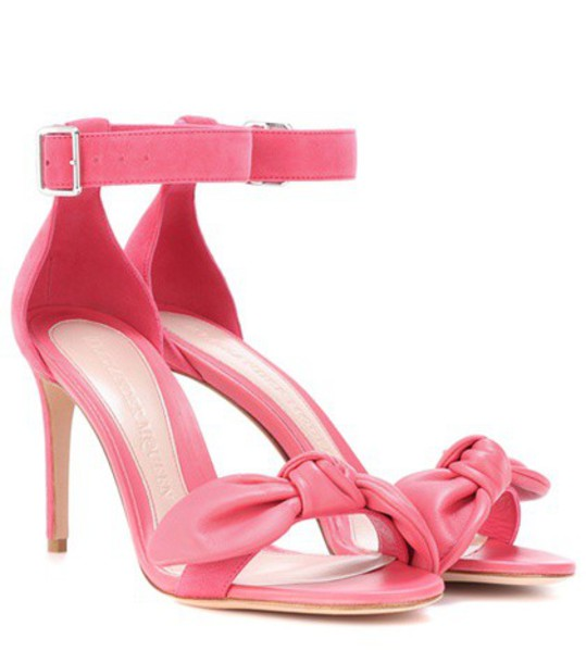 Alexander Mcqueen sandals leather suede pink shoes