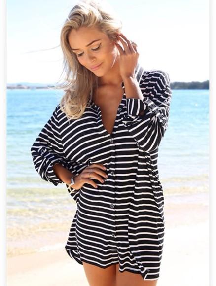 stripes comfy casual boho
