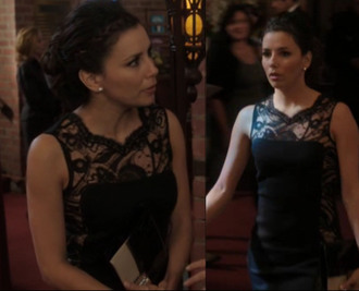 dress gabrielle solis eva longoria black dress lace desperate housewives