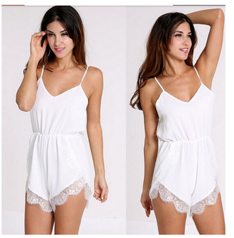 jumpsuit white pretty cute\ cute bikini
