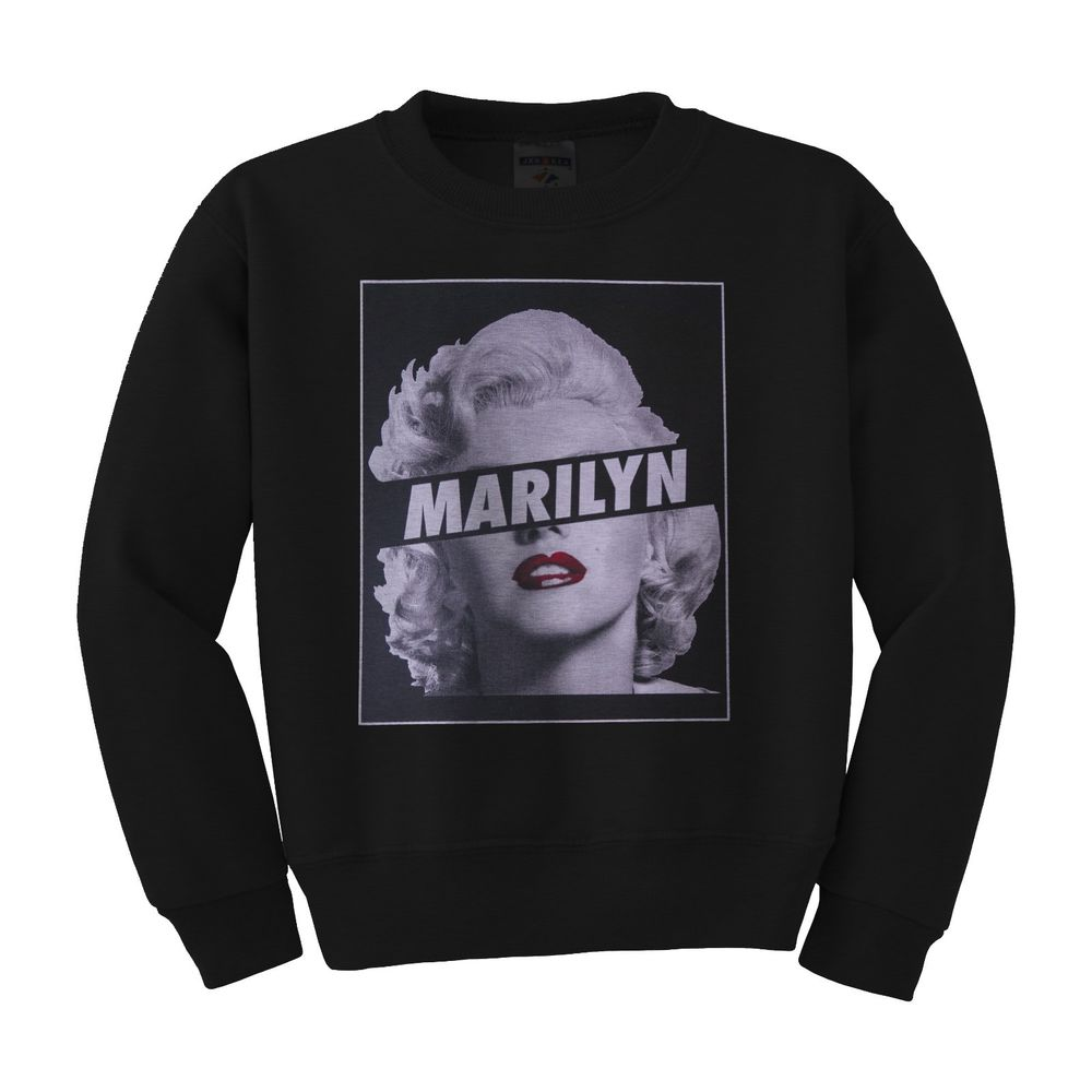Marilyn monroe sexy unisex mens womens crew neck sweatshirt s m l xl