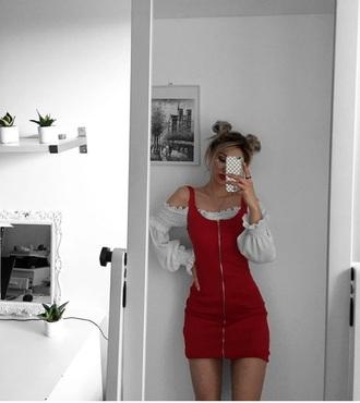dress zip red lolita red zip up dress burgundy mini dress mini zipped dress zipper dress zip-up red dress