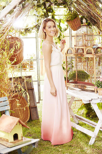 dress maxi dress summer dress summer lauren conrad romantic