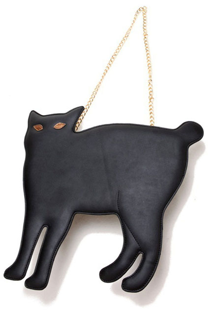 ROMWE | Cat Shaped Rivet Black Bag, The Latest Street Fashion