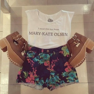 t-shirt olsen summer outfits shorts