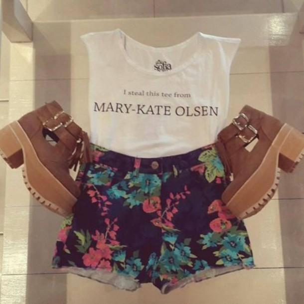 t-shirt olsen summer outfits shorts
