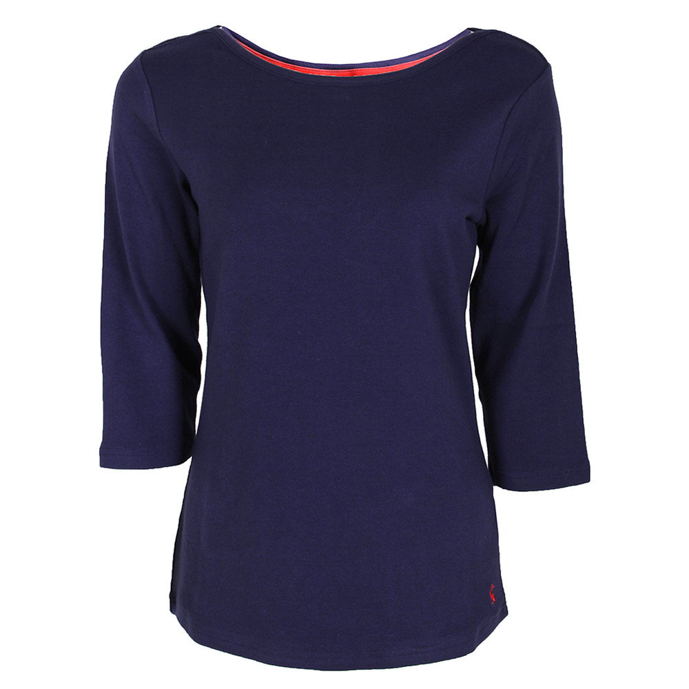 Womens Joules Plain Three Quarter Sleeve Top