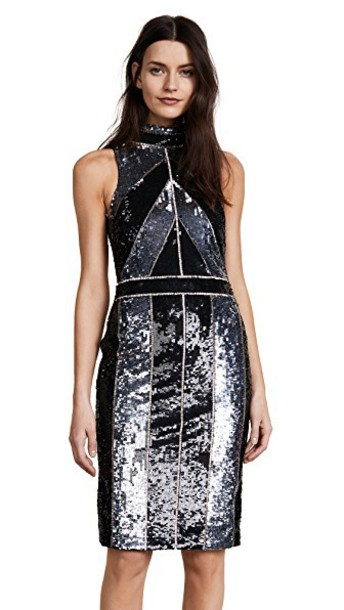 L'Agence dress sequin dress black