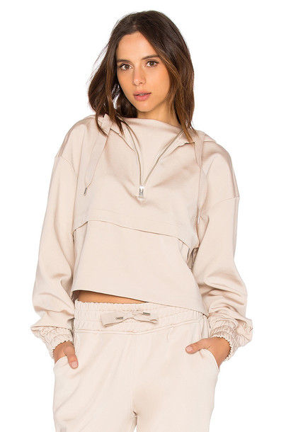 IVY PARK hoody satin taupe sweater