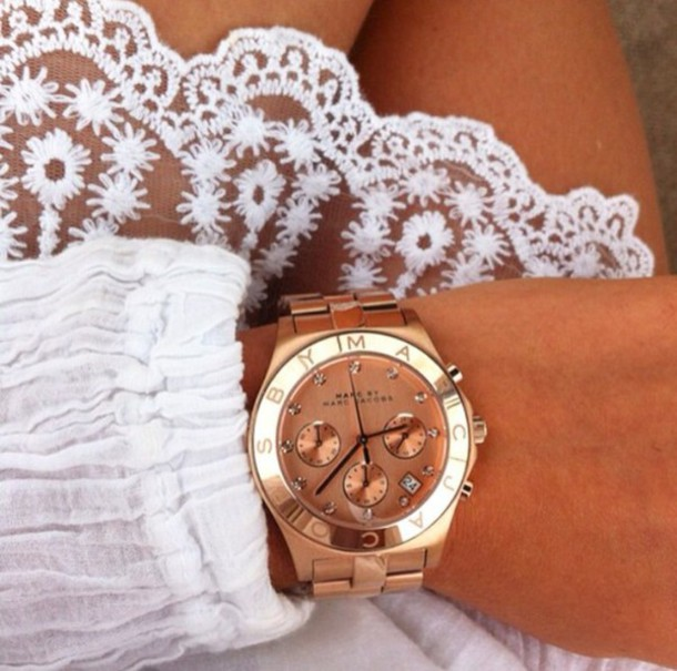 jewels watch gold marc by marc jacobs