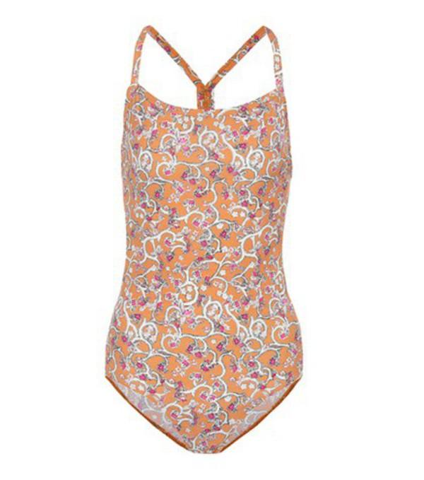Isabel Marant, Étoile Seeley printed swimsuit in orange