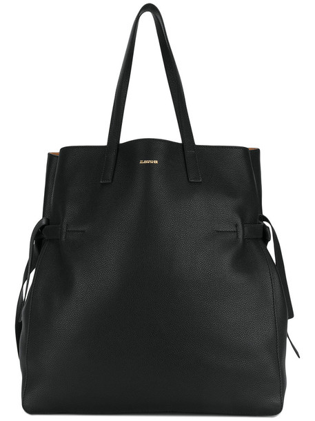 Jil Sander oversized women bag tote bag leather black