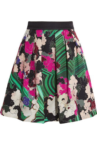 skirt mini skirt mini cotton silk pink green