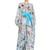Angles Printed Silk Chiffon Long Dress