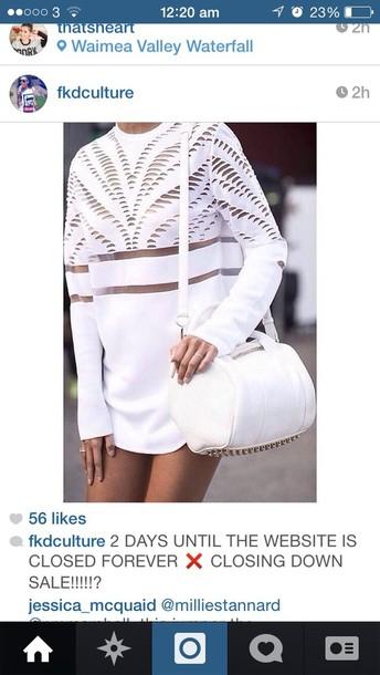 bag white dress blouse shirt sweater