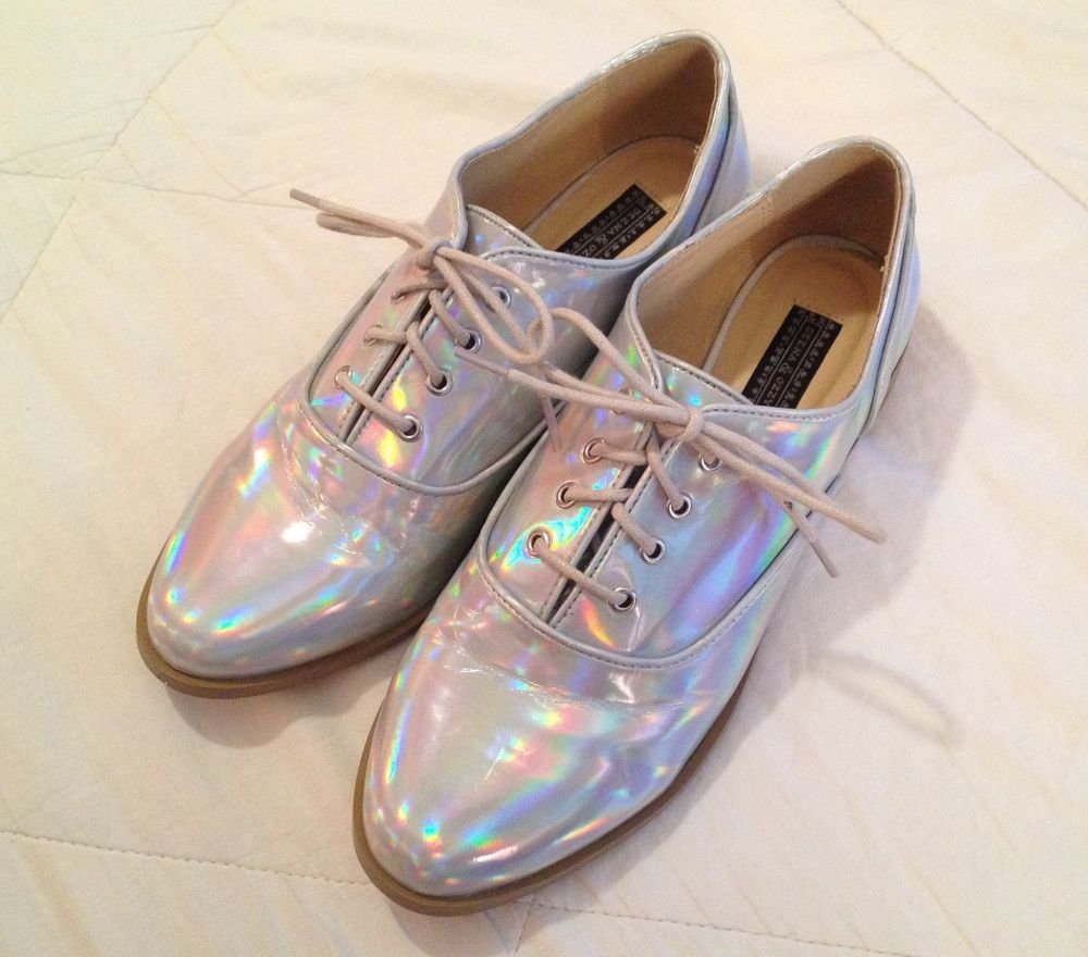 Urban Outfitters Sold Out Size 8 1 2 Hologram Oxford Deena Ozzy Electro | eBay