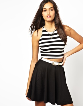 Glamorous | Glamourous Striped Crop Top at ASOS