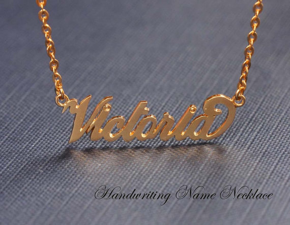 Handcrafted Name Necklace  Personalized Name Necklace   by Bestyle