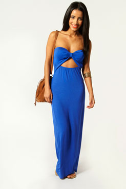 Amie Bandeau Cut Out Front Detail Maxi Dress at boohoo.com
