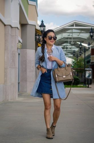 gracefullee made blogger jacket shirt skirt jewels shoes bag sunglasses
