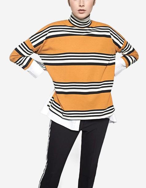 Stradivarius t-shirt shirt t-shirt oversized high high neck mustard top