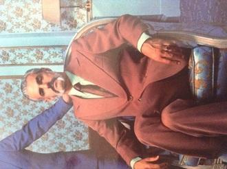 jacket vintage suit aubergine mens suit