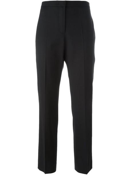 Piazza Sempione women spandex black wool pants