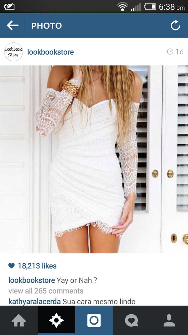 dress white lace dress white dress off the shoulder