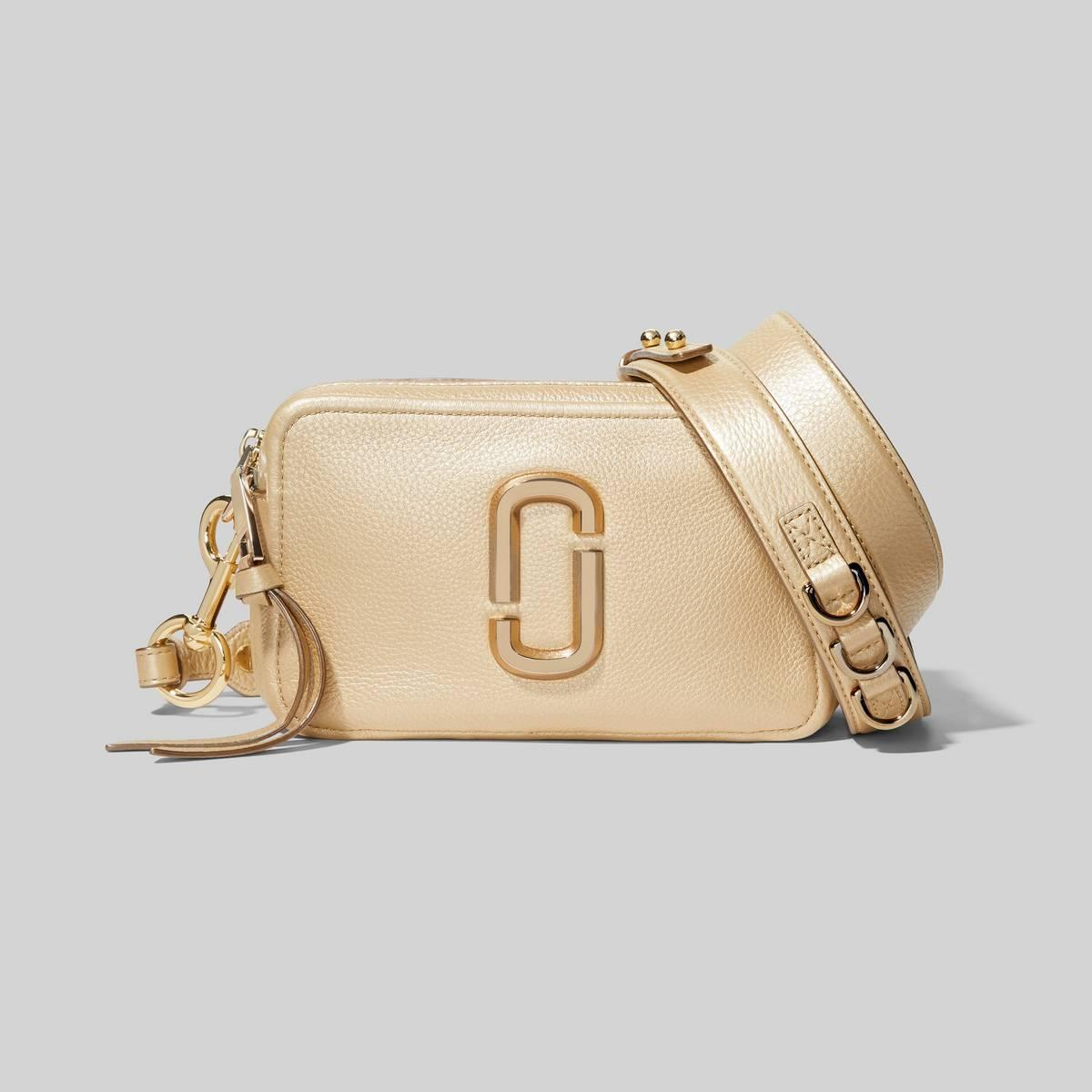The Softshot Pearlized Bag in Gold