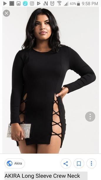 dress black lace up dress